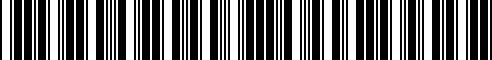 Barcode for 15255-RN014